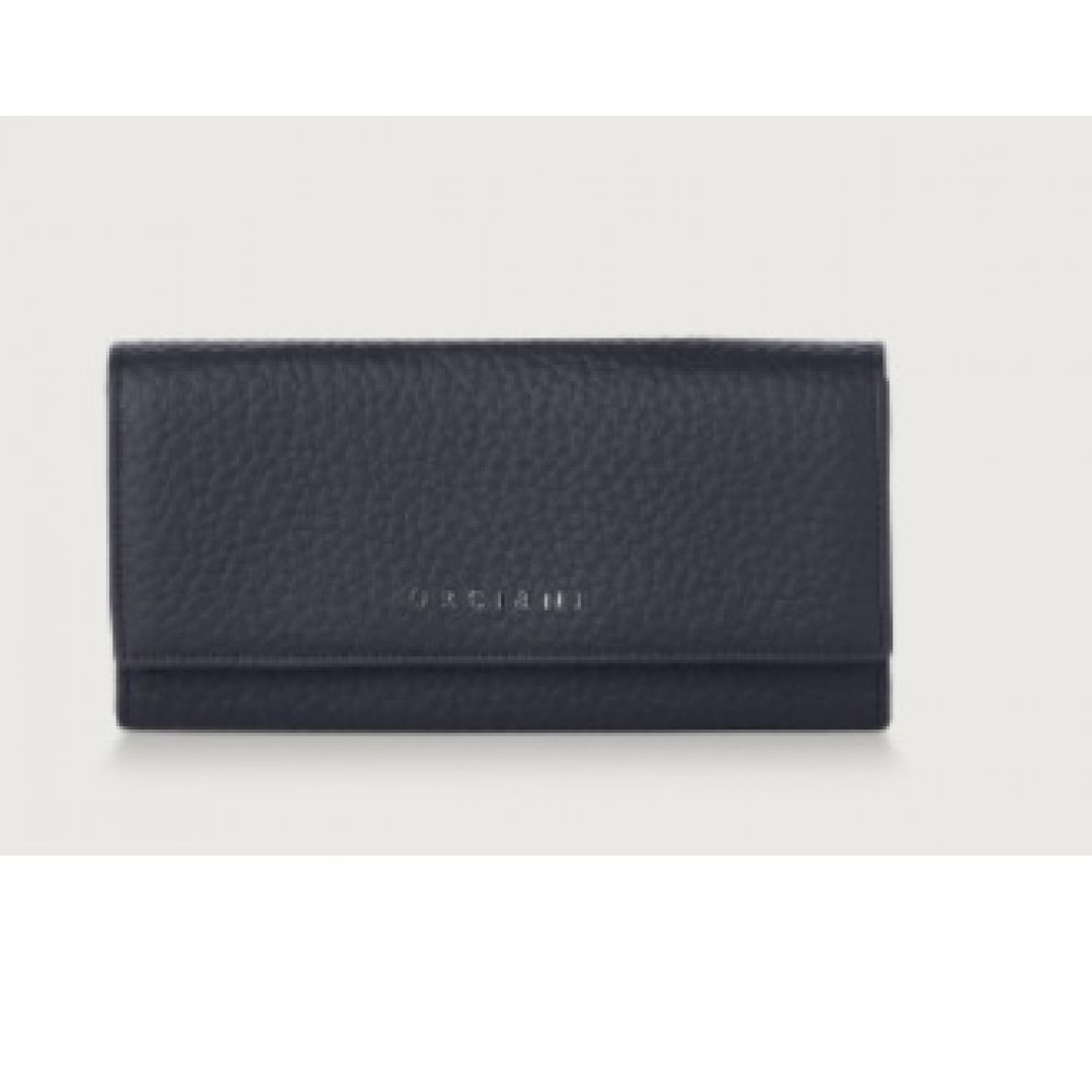 Portafoglio In Pelle Con Rfid Orciani Navy SD0129SOF-NVY