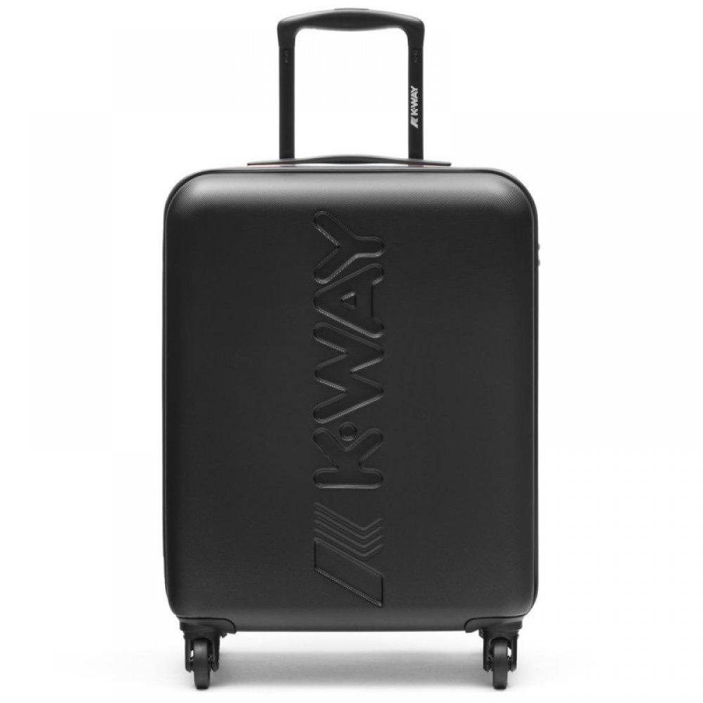 k-way trolley cabin bagaglio a mano rigido nero 4 ruote 8AKK1G010A2