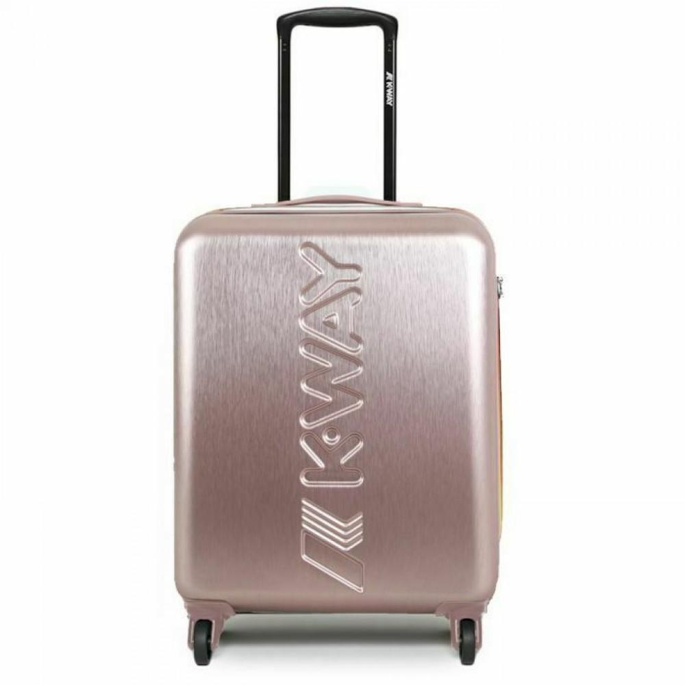 k-way trolley rigido bagaglio a mano - rose gold