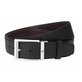Cintura Montblanc reversibile regolabile nera/marrone 126045