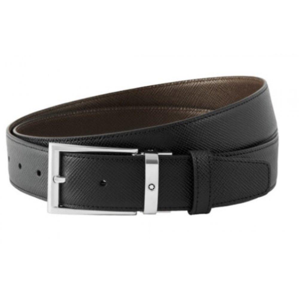 Cintura Montblanc reversibile regolabile nera/marrone 118436