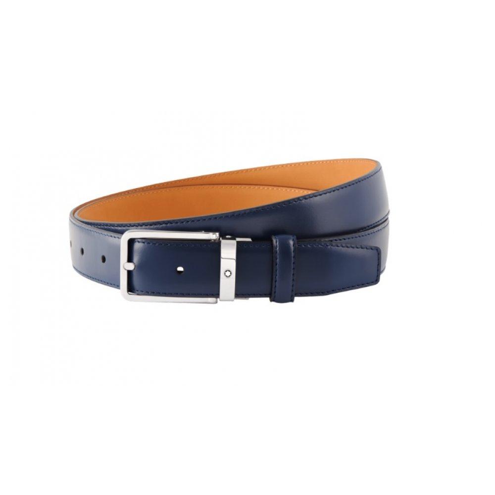 Cintura Montblanc regolabile blu 118419