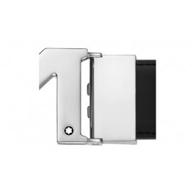 """Cintura Montblanc reversibile regolabile con fibbia """"M"""" nera 127697"""