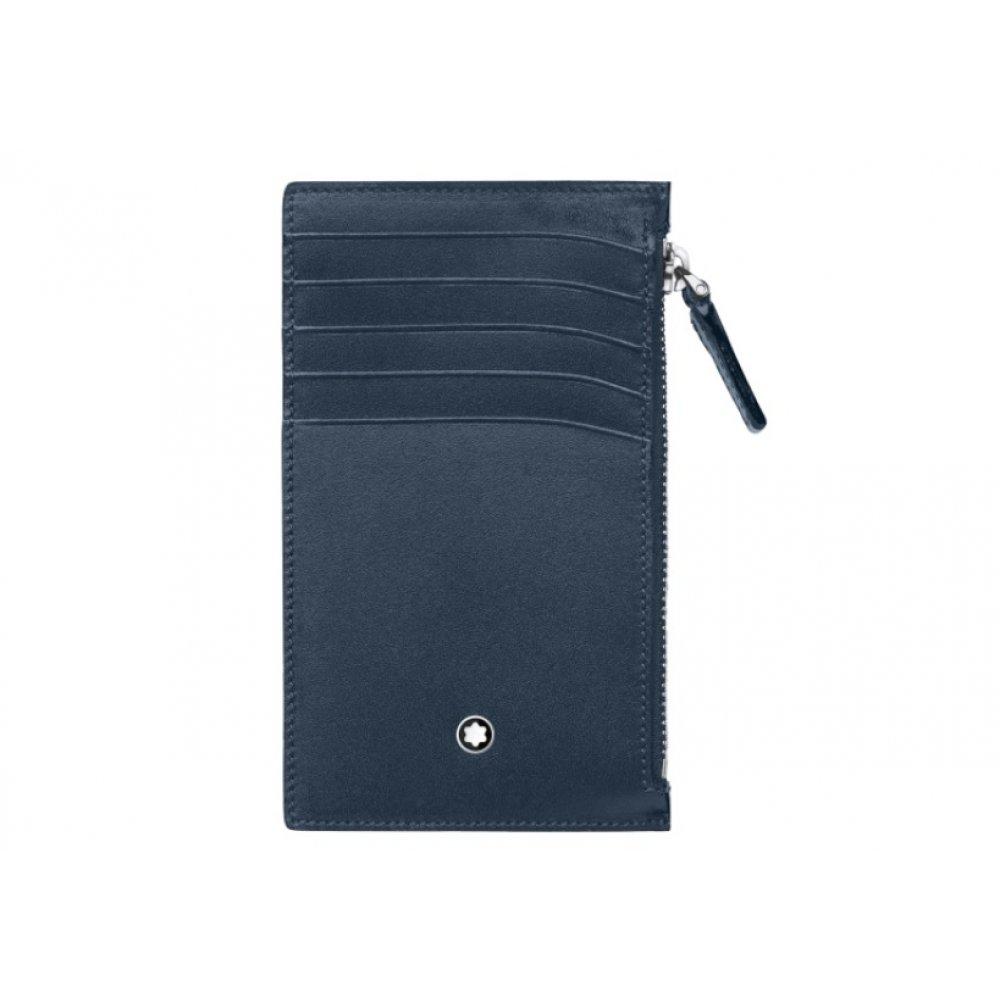 Portafoglio Montblanc MST 5scomparti con cerniera blu 118314