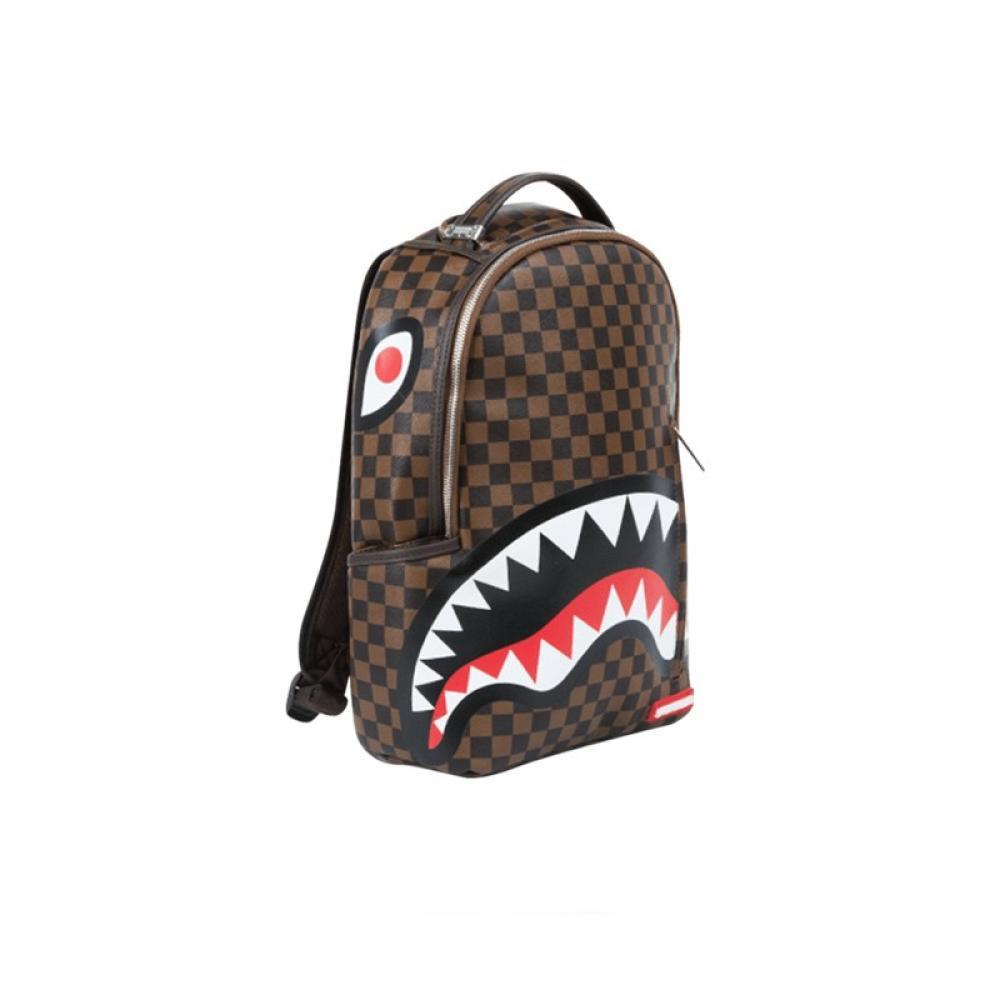 1335f91c13 Sprayground zaino shark in paris marrone 910B1860
