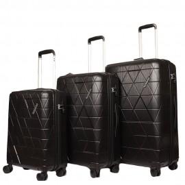 American tourister triangolo set 3 pezzi rigidi 4 ruote onyx black 115794/0581 60G09004