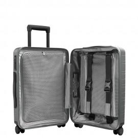 Horizn studios bagaglio a mano M5 smart CON TASCA FRONTALE e sistema per il caricamento dei dispositivi in viaggio quartz grey LG217231803CH0160401