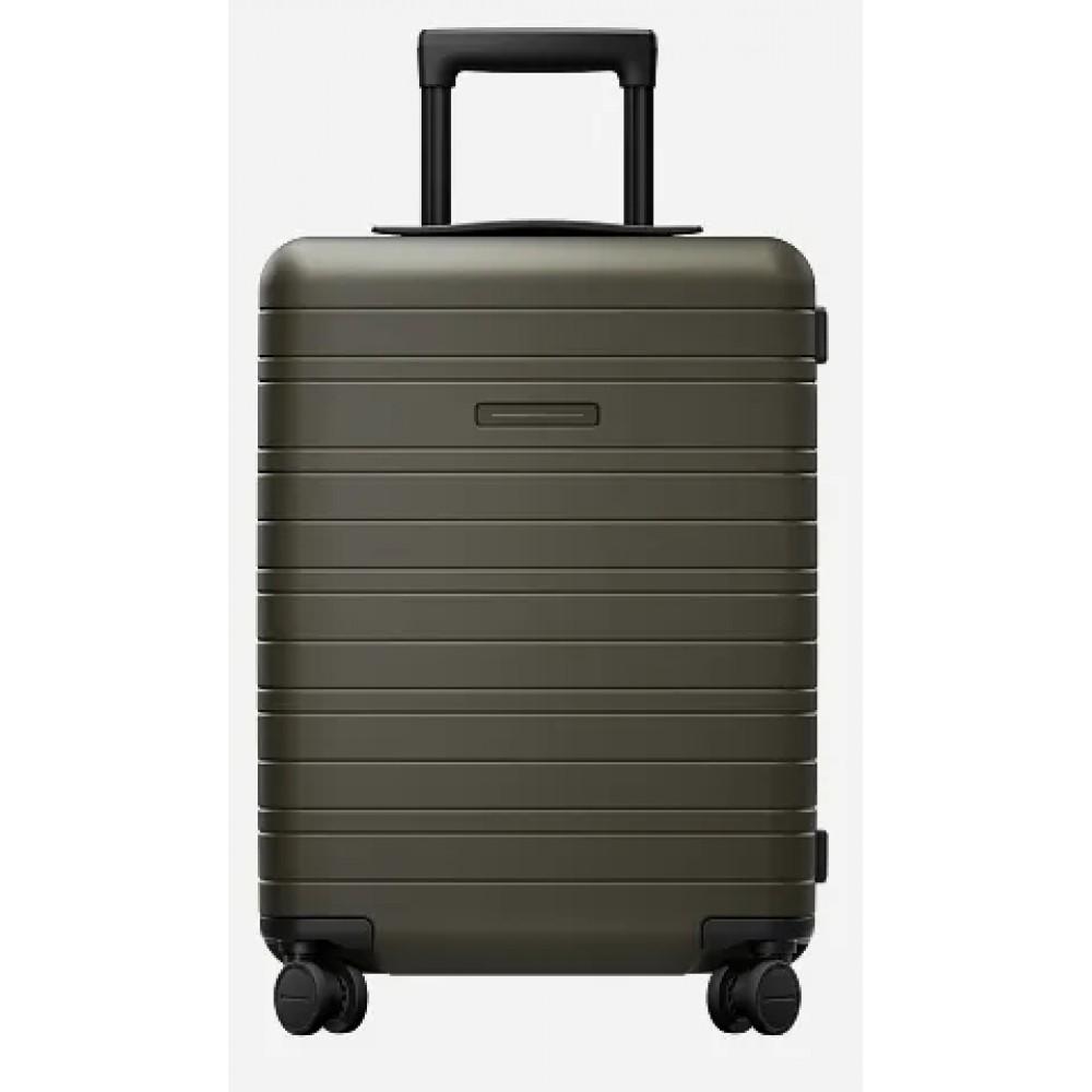 Horizn Studios H5 Cabin Luggage dark olive (35L) horizn trolley bagaglio a mano 4 ruote in policarbonato aerospaziale verde olivaHS50B7