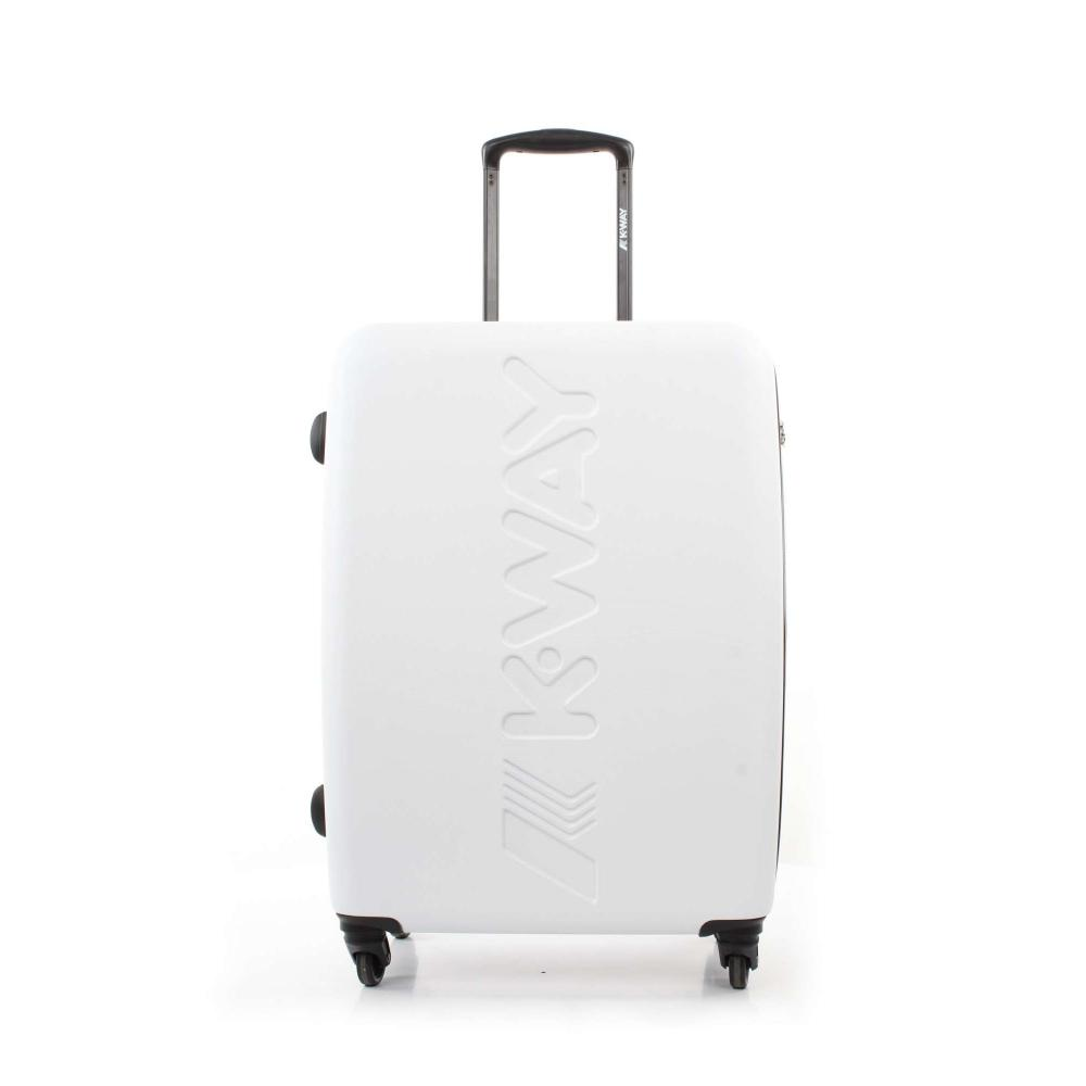 k-way trolley rigido medie dimensioni - bianco