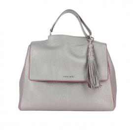 "Orciani Sveva Small ""silver Color"" In Pelle Con Tracolla B02006SVC-043"
