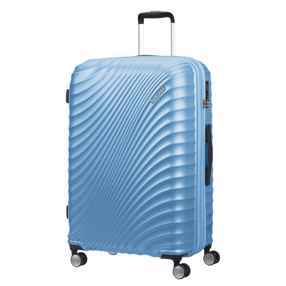 American Tourister Jetglam Trolley Espandibile (4 Ruote) 77Cm Metallic Powder Blue 122818-8328 71G71003