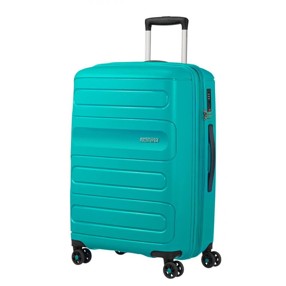 American Tourister SUNSIDE Spinner Espandibile (4 Ruote) 68Cm Aero Turquoise