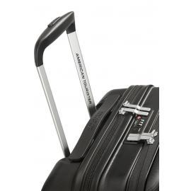 American Tourister aero racer Trolley (4 Ruote) 55 cm Jet Black con tasca frontale esterna porta PC, tablet e documenti 121750-1465 61G09005