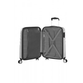 American Tourister WAVEBREAKER Spinner (4 Ruote) S Silver Sparkle