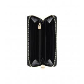 Borbonese Portafoglio Zip Around In Pelle Nero 910560400100