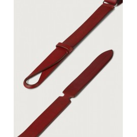 Orciani Cintura Nobuckle Bull In Cuoio Rosso NB0004BUL