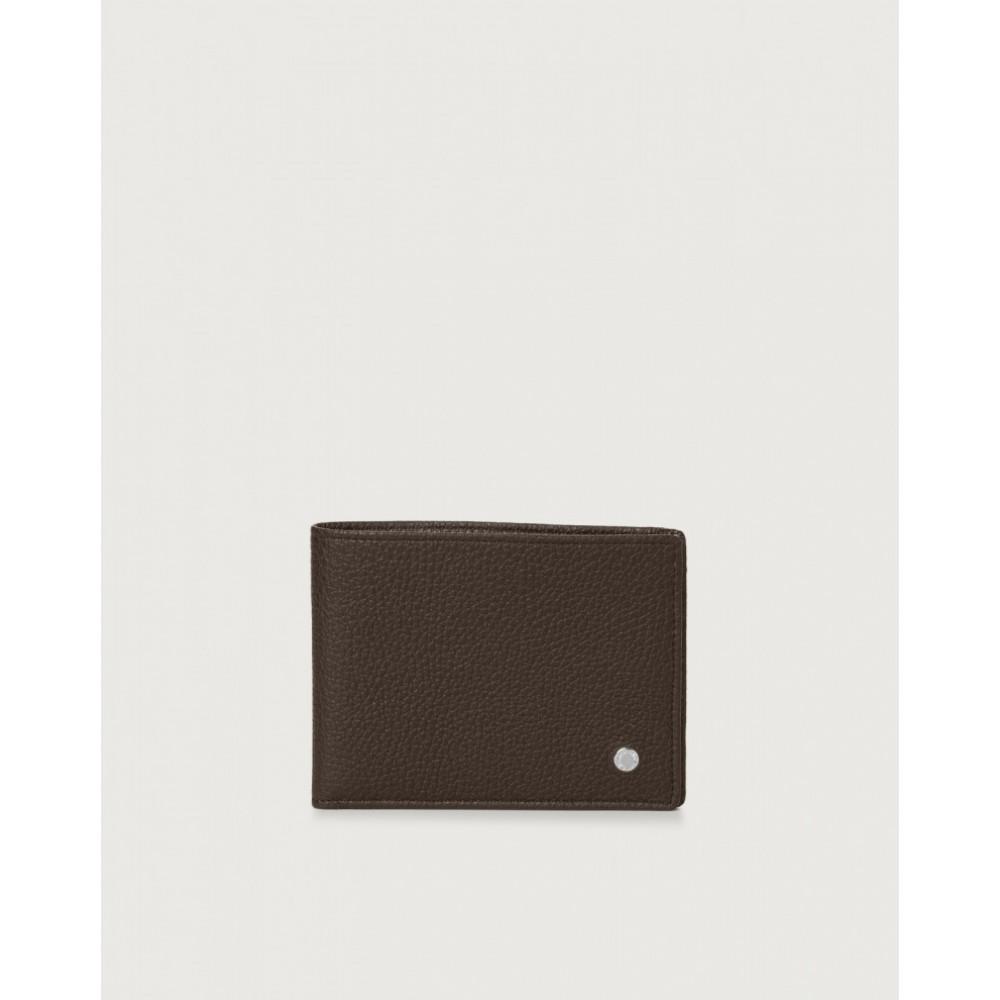 Orciani, portafoglio micron in pelle ebano SU0090MIC-EBA