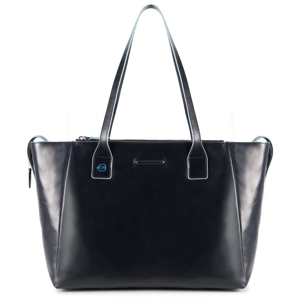 Piquadro Shopping Bag Con Scomparto Porta Ipad®Air/pro 9,7 Blue Square Blu Notte