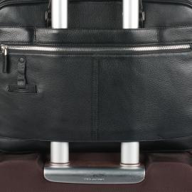 Piquadro Borsa Sottile Porta Computer E Porta Ipad®Air/air2 A Due Manici Con Tasche Frontali Organizzate Modus Nero