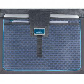 Piquadro Cartella Porta Computer Con Patta E Porta Ipad®/ipad®Air/air2 Pulse Blu Notte