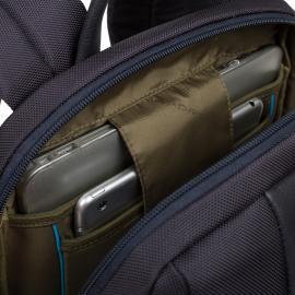 Piquadro Zaino Porta Pc/ipad®Air/pro 9,7 Con Connequ, Tasca Portabottiglia O Portaombrello Brief Blu