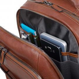 Piquadro Zaino Porta Pc E Porta Ipad®Air/pro 9,7 Con Placca Usb E Micro-Usb E Connequ Collezione Bagmotic Testa Di Moro