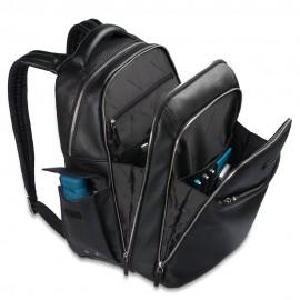 Piquadro Zaino Porta Pc/ipad®Air/air2 Con Tasche Portabottiglia E Portaombrello Modus Nero