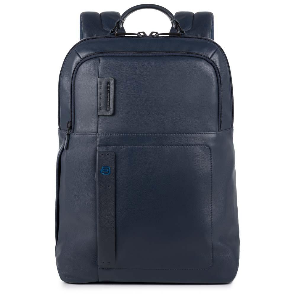 Piquadro Zaino Grande Porta Pc Con Scomparto Per Ipad®Air/pro 9,7, Porta Ombrello E Porta Bottiglia Pulse Blu Notte
