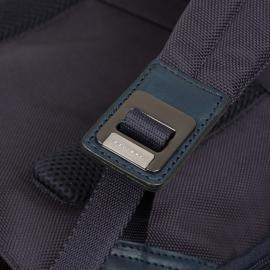 Piquadro Zaino Fast-Check Porta Pc/ipad®Air/pro 9,7, Cavo Antifurto, Placca Usb E Micro-Usb, Anti-Frode Rfid Brief Nero