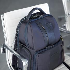 Piquadro Zaino Fast-Check Porta Pc/ipad®Air/pro 9,7, Cavo Antifurto, Placca Usb E Micro-Usb, Anti-Frode Rfid Brief Nero