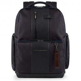 Piquadro Zaino Fast-Check Per Pc/ipad®Air/pro 9,7 Con Portabottiglia/ombrello, Connequ E Anti-Frode Rfid Brief Blu CA4532BR