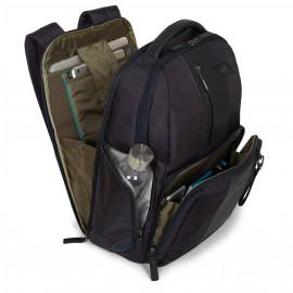 Piquadro Zaino Fast-Check Per Pc/ipad®Air/pro 9,7 Con Portabottiglia/ombrello, Connequ E Anti-Frode Rfid Brief Nero