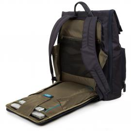 Piquadro Zaino Fast-Check Porta Pc E Porta Ipad®Air/pro 9,7, Connequ E Anti-Frode Rfid Brief Testa Di Moro