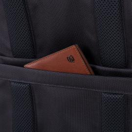 Piquadro Zaino Porta Pc/ipad®Air/pro 9,7 Con Tasca Portabottiglia O Portaombrello, Connequ E Anti-Frode Rfid Brief Nero