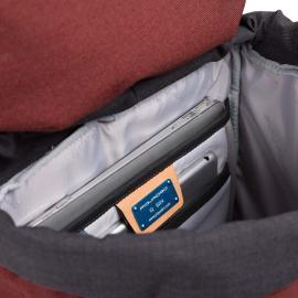 Piquadro Zaino Porta Computer Con Patta, Scomparto Grigio CA4535BL