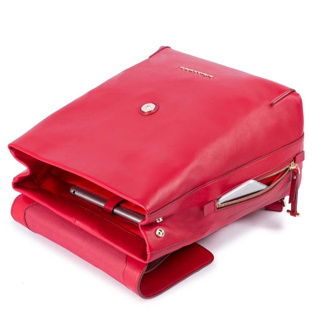de4f4f00e6 Piquadro Zainetto Donna Espandibile Rosso Vermiglio