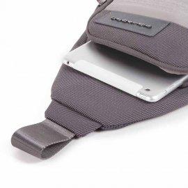 Monospalla Porta Ipad® In Tessuto Riciclato Nero Piquadro  CA5159W107/N