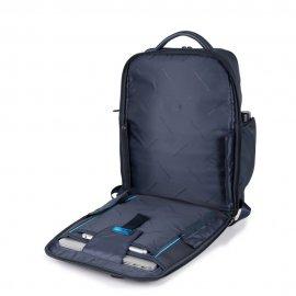 Zaino Fast-Check In Pelle E Tessuto Piquadro Blu Notte CA5317S115/BLU