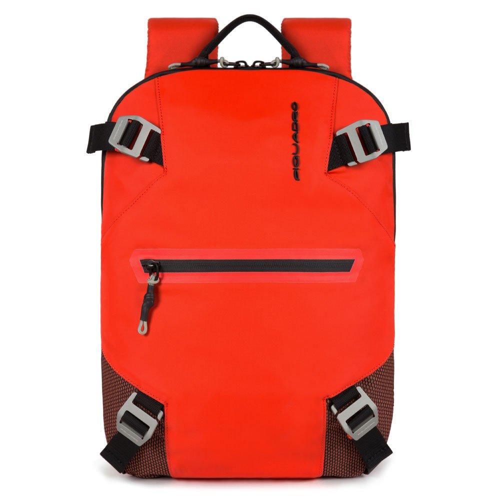 """Piquadro Zaino Per Pc E Ipad®Pro 12,9"""" In Tessuto Riciclato Rosso CA5496PQM/R"""