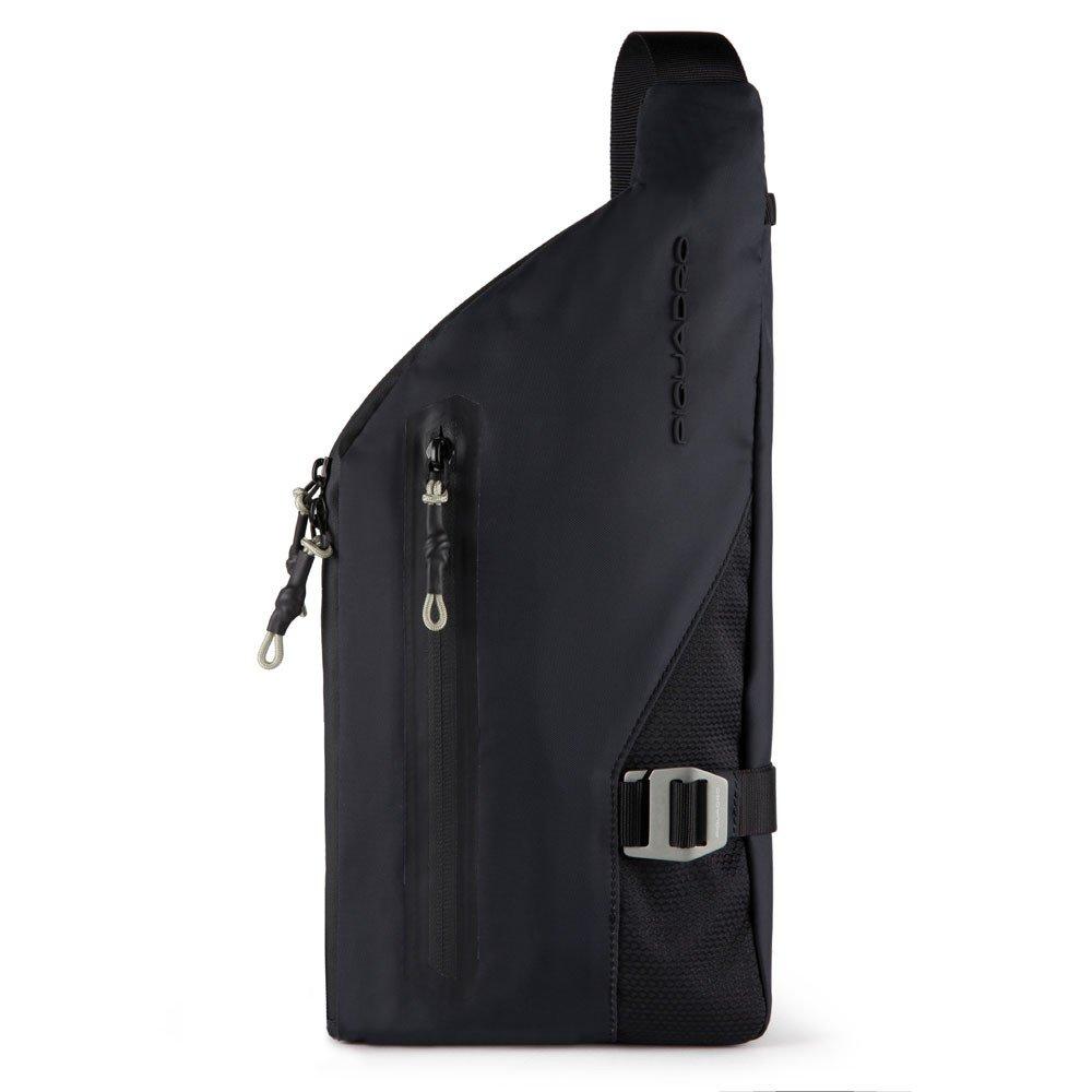 Piquadro Monospalla Porta Ipad®Mini In Tessuto Riciclato Nero CA5499PQM/N