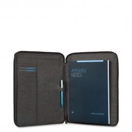 Piquadro Portablocco Sottile Formato A4 Con Chiusura A Zip Nero PB2830P15