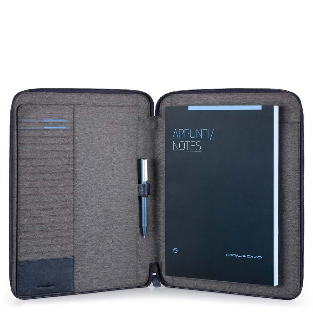Piquadro Portablocco Sottile Formato A4 Blu Notte PB2830P15S