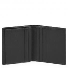 Piquadro Porta Carte Di Credito Chevron/nero PP1518P16