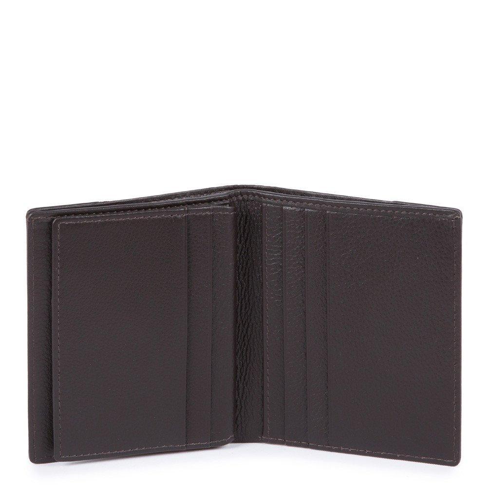 Piquadro Porta Carte Di Credito Chevron/testa Di Moro PP1518P16