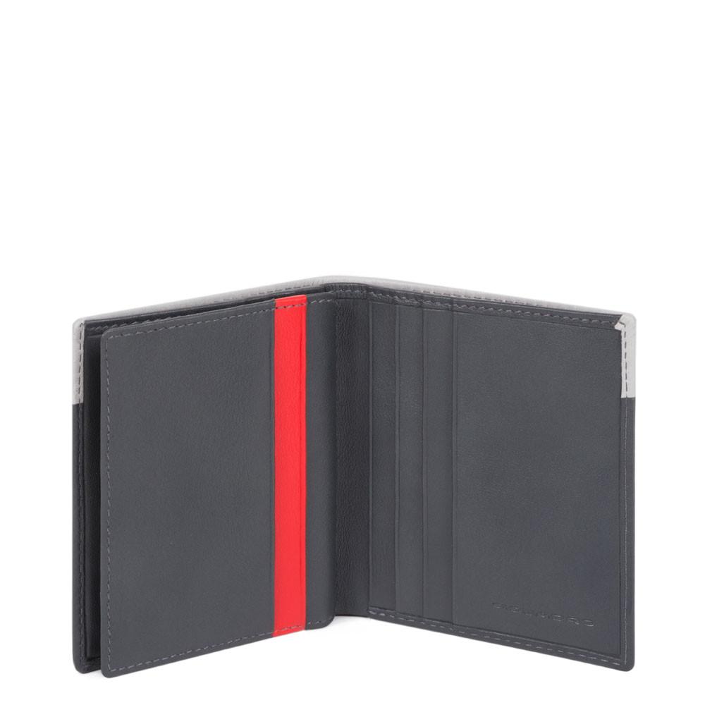 Piquadro, porta carte di credito in pelle grigio/nero PP1518UB00R/GRN