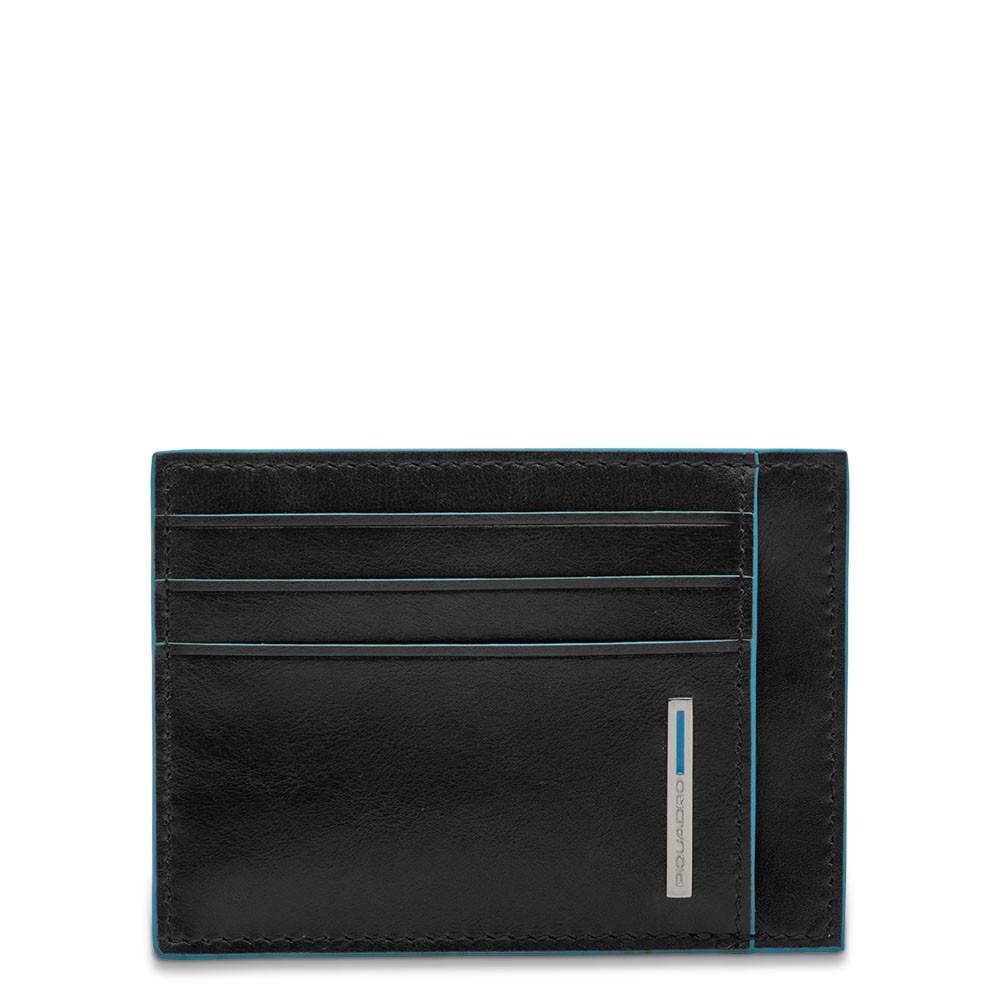 Porta Carte Di Credito In Pelle Piquadro Nero PP2762B2R/N