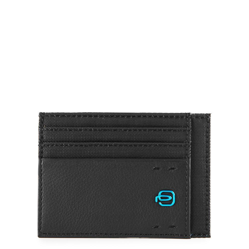Piquadro Bustina Porta Carte Di Credito Tascabile Chevron/nero PP2762P16