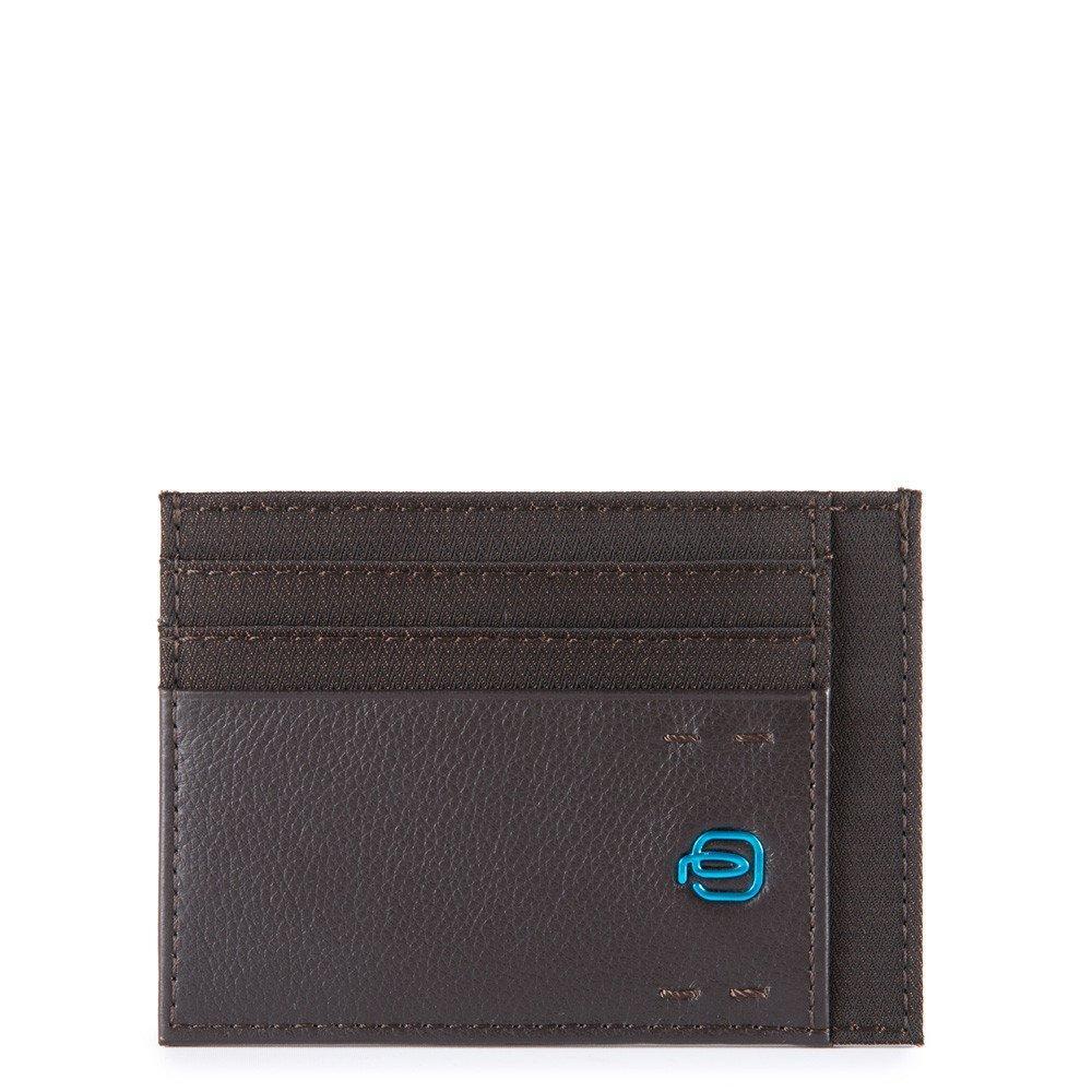 Piquadro Bustina Porta Carte Di Credito Tascabile Chevron/testa Di Moro PP2762P16