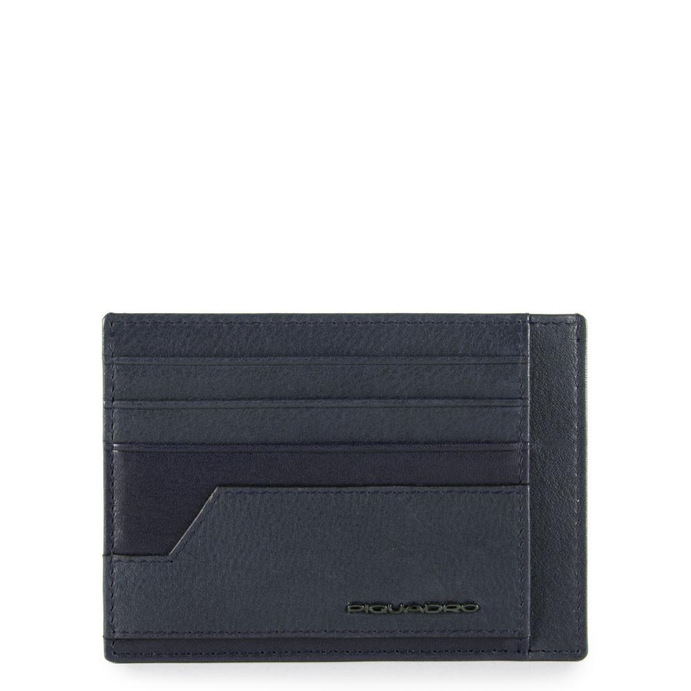 Porta Carte Di Credito Tascabile Blu Notte Piquadro PP2762S105R/BLU