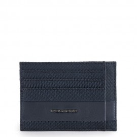 Piquadro Bustina Porta Carte Di Credito Tascabile Blu Notte PP2762S107/BLU